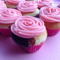 Pink T-shirt Day Neapolitan Cupcakes
